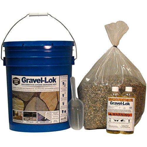 Gravel-Lok DIY Decorative Stone Bonding Kit - River Gravel (Of Grey Shades Liquid 50)