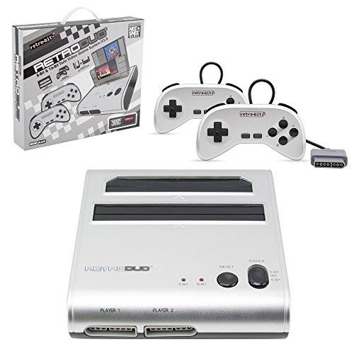 Retro-Bit Retro Duo Twin Video Game System, Silver/Black (Retro Duo)