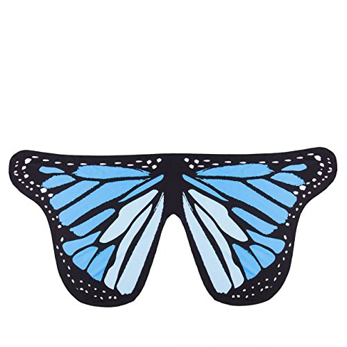 [Happyear Adult Soft Butterfly Wings Adult Costume Accessory (Blue)] (Blue Monarch Butterfly Costume)