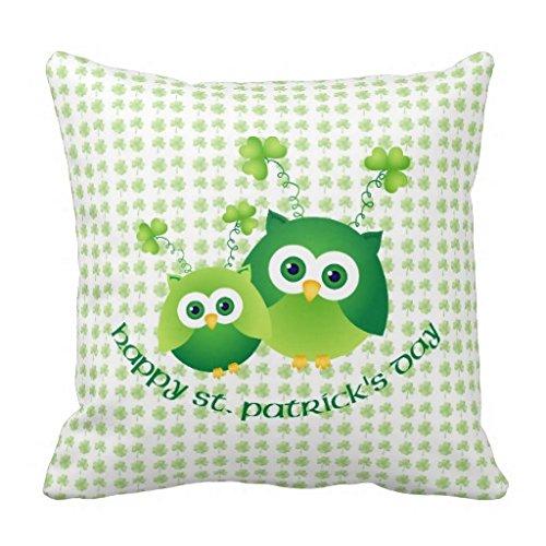 Adorable St Patricks Day Owl Tees Gifts R1800e7dc296941c7a42bd3b74da5f642 I52ni 8byvr Pillow - Lange Jessica Measurements