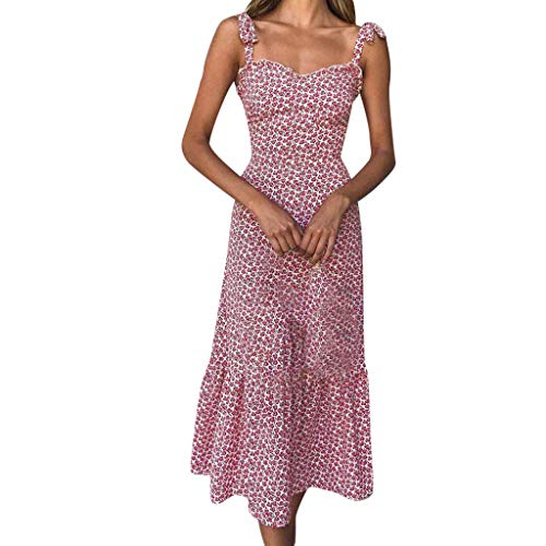 Pinstriped Pencil Skirt - RAINED-Womens Floral Long Dress Sleeveless Pleated Party Dress Casual Ruffle Splice Beach Long Maxi Dress Holiday Dress Red