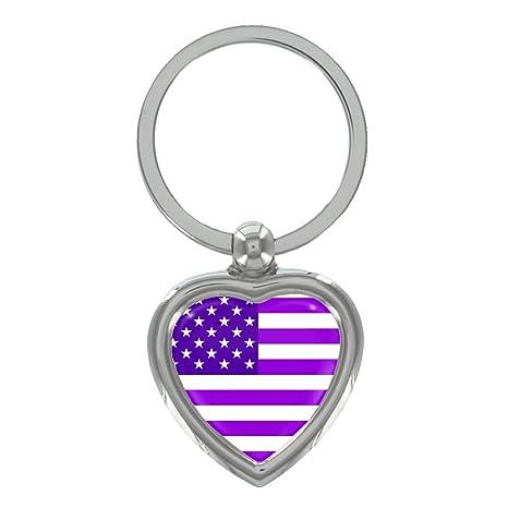 Amazon.com: Color morado Bandera de Estados Unidos Metal ...