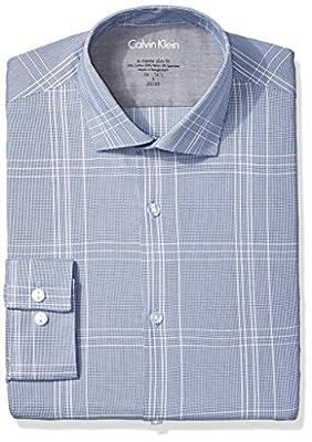 Calvin Klein Men's Xtreme Slim Fit Plaid Shirt