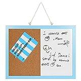 Combination Magnetic Whiteboard Bulletin Board, Dry Erase / Cork...