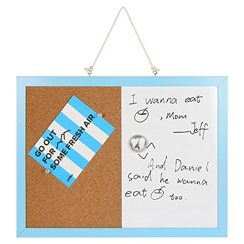 Combination Magnetic Whiteboard Bulletin Board  Dry Erase   Cork Board Small Mini Hanging Tack Message Memo Picture Board For Home Office Spessn