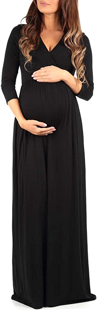 Wrapped Ruched Maternity Dress