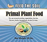 Premium Organic Fertilizer - Primal Plant Food - Best Indoor & Outdoor Fertilizer - Grow Healthy Plants And Vegetables Without Damaging Soil - 100% Organic - Rock-powder Based Organic Ingredients
