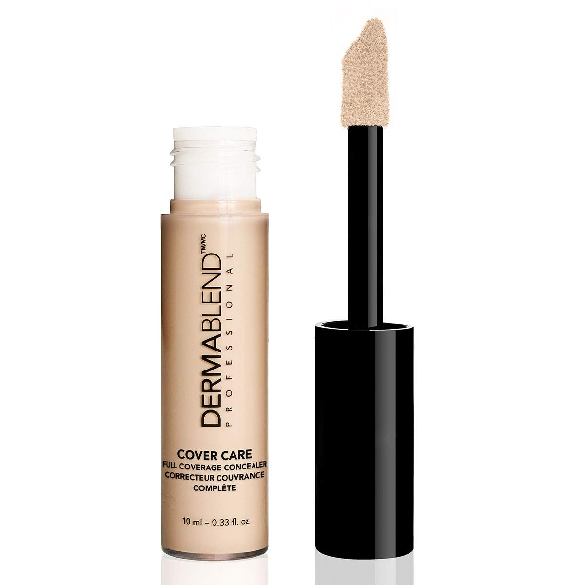 Dermablend Cover Care Concealer, Full Coverage Concealer Makeup and Corrector for Under Eye Dark Circles, Acne & Blemishes, 24-Hr Hydration, Matte Finish, XL Applicator