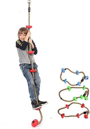 PUDDINGT® 2 m Escalada Cuerda Columpio con Plataformas Cinco ...