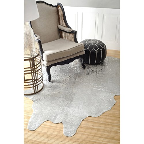 nuLOOM Hand-picked Brazilian White Devou - Round Cowhide Rugs Shopping Results