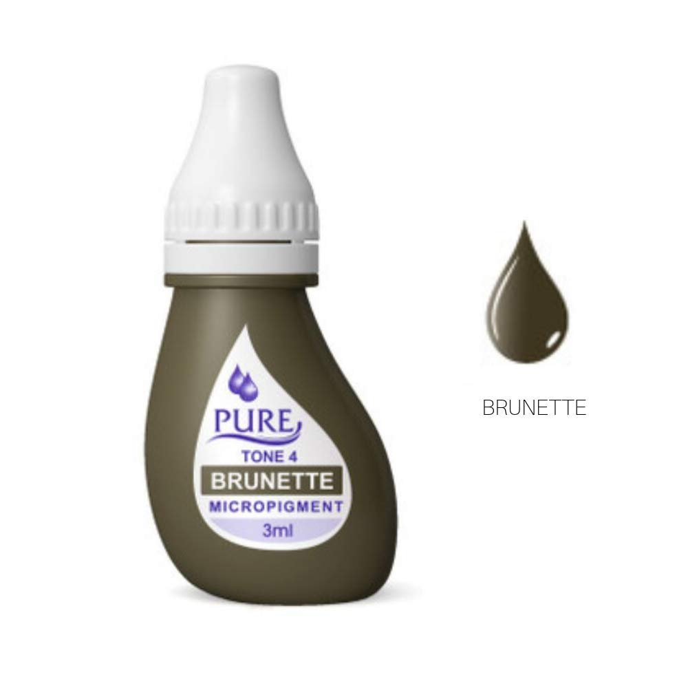 BioTouch PURE BRUNETTE Pigment Tattoo ink Permanent Makeup Cosmetic 3 ml Bio Touch Tatoo ink by Biotouch