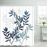 Leaves Shower Curtain Bathroom Shower Curtain Bathroom Curtain Durable Oxford Fabric Bath Curtain Bathroom Accessories Ideas Kitchen Window Curtain with 12 Hooks