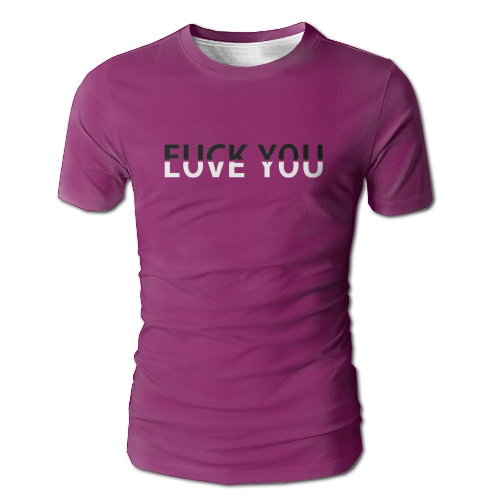 Fuck You Love You Men's Crew Neck Short Sleeves Tshirt by WOWtreee (Image #1)
