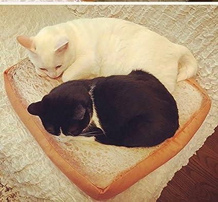 HAPPYX Cama de gato Cama en forma de pan sandwich, Soft Warm Máquina Lavable Microfiber