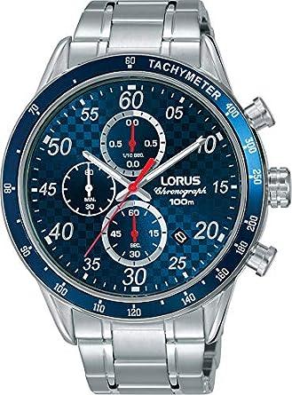 Lorus Reloj Cronógrafo para Hombre de Cuarzo con Correa en Acero Inoxidable RM329EX9: Amazon.es: Relojes