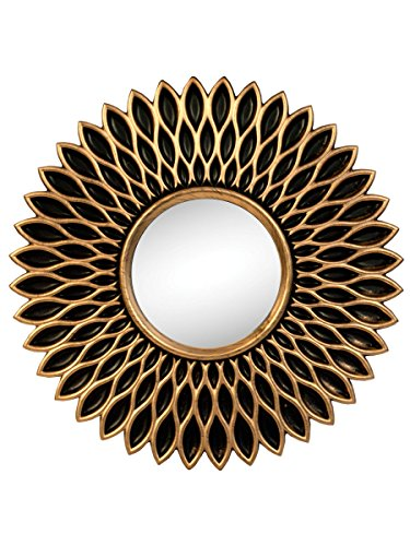 StealStreet SS-KI-OL546 Bronze Sunflower Mirror Set