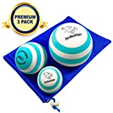 SpoiledHippo Massage Ball - 3 Set - Deep Tissue Massage Therapy, Myofascial Release, Trigger Point Massager - Muscle Pain Relief, Muscle Knots Foam Ball, Self Massage Physical Therapy Ball