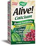 Nature's Way Alive!®  Calcium Bone Formula Supplement (1,000mg per serving), 120 Tablets