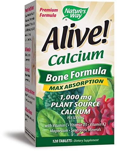 - Nature's Way Alive!®  Calcium Bone Formula Supplement (1,000mg per serving), 120 Tablets