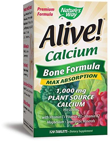 Nature's Way Alive!®  Calcium Bone Formula Supplement (1,000mg per serving), 120 (30 Tablets Natures Way)