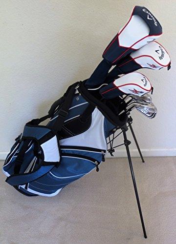 CallawayメンズLeft HandゴルフクラブセットRegular Flex Completeドライバ フェアウェイウッド ハイブリッド アイアン パター スタンドバッグLH Leftyの商品画像