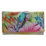Anuschka Hand Painted Rfid Blocking Two Fold French Wallet Spring Passion, Spp-Spring Passion, One Size