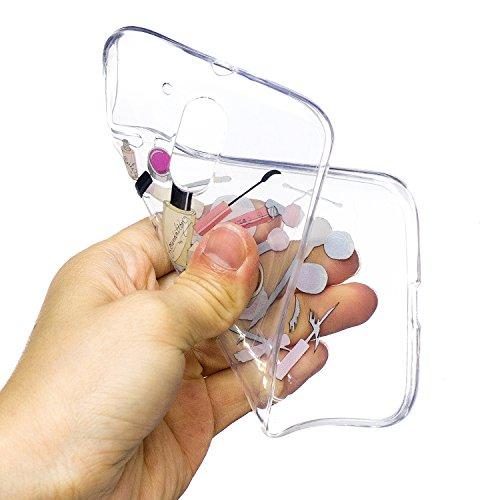 Ecoway Motorola Moto G4 / G4 Plus TPU Funda , Altamente Transparente Antideslizante Suave Resistente a Los arañazos TPU Contraportada Funda de Carcasa Funda Bumper Para Motorola Moto G4 / G4 Plus - Ga cosmético