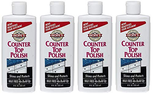 Hope's Premium Home Care, Wax Free Counter Top Polish, 8 oz, 1 count (Fоur Paсk) by HOPE'S