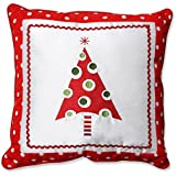 Pillow Perfect Framed Christmas Tree Throw Pillow, 16.5-Inch