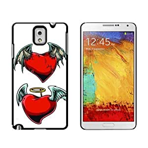 Devil and Angel Hearts Love Romance Broken Case for Samsung Galaxy Note III 3 iphone case for menphonease for...