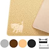 Smiling Paws Pets Cat Litter Mat, BPA Free, XL Size 35' x23.5', Non-Slip - Tear & Scratch Proof, Easy to Clean Kitty Litter Catcher with Scatter Control (Extra Large Black)