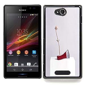 - Axe Ice Red Art Modern Abstract Random/ Duro Snap en el tel????fono celular de la cubierta - Cao - For Sony Xperia C S39h C2305