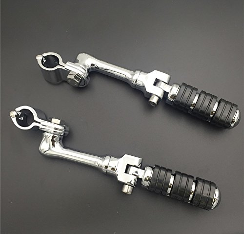 Motorcycle 1 1 1/4 Highway Radical Skull Foot Pegs Clamps For Harley Sportster 883 1340 by SMT-MOTO