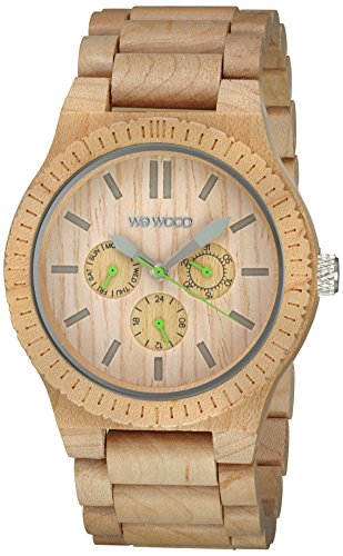 WeWood Men's Kappa Beige Wooden Watch by WeWood