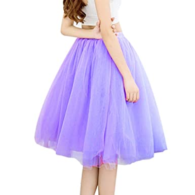 Faldas para Mujer De Falda Verano Moda Casual 7 Capas Moda ...