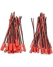 D-Orange 20 paar JST connectors 22 AWG JST 2-pins stekker mannelijke en vrouwelijke connector adapter met 100 mm elektrische kabel voor LED lamp strip