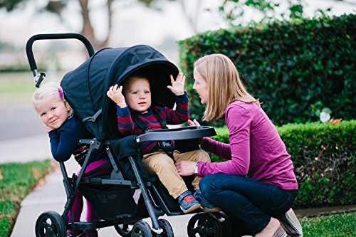 Joovy Caboose Graphite Stand On Tandem Stroller, Red by Joovy (Image #7)