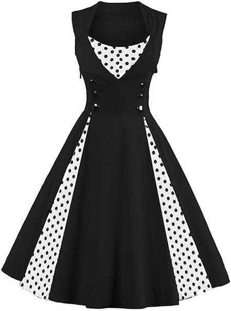 Killreal Women\u0027s Polka Dot Retro Vintage Style Cocktail Party Swing Dresses