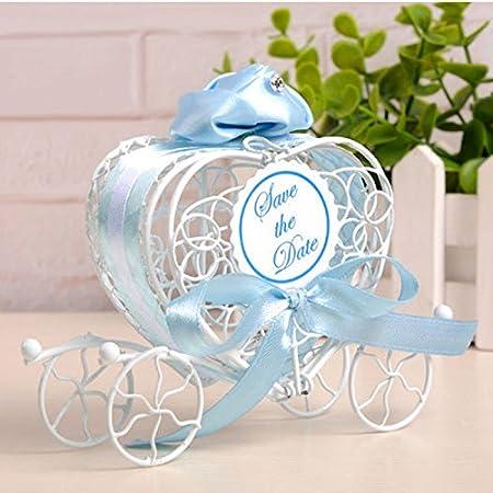 doitsa 1pcs cajas de caramelos boda regalo cajas de hierro forma de mueble para bares, fiestas, cumpleaños (azul)