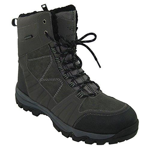 Rocky Moose Men's Winter Ice Snow Boots Waterproof Guaranteed 3M Thinsulate Fur Lining Super Warm Comfy Ohio (12, Grey)