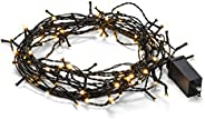 Abbott Collection Home Candle Effect Led String. 100 Led Lights-33'L, Green (27-ILLUME-