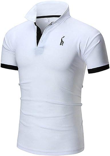 BOLAWOO Camisas De Polo Hombres Tops De Cuello Jirafa Mode De ...