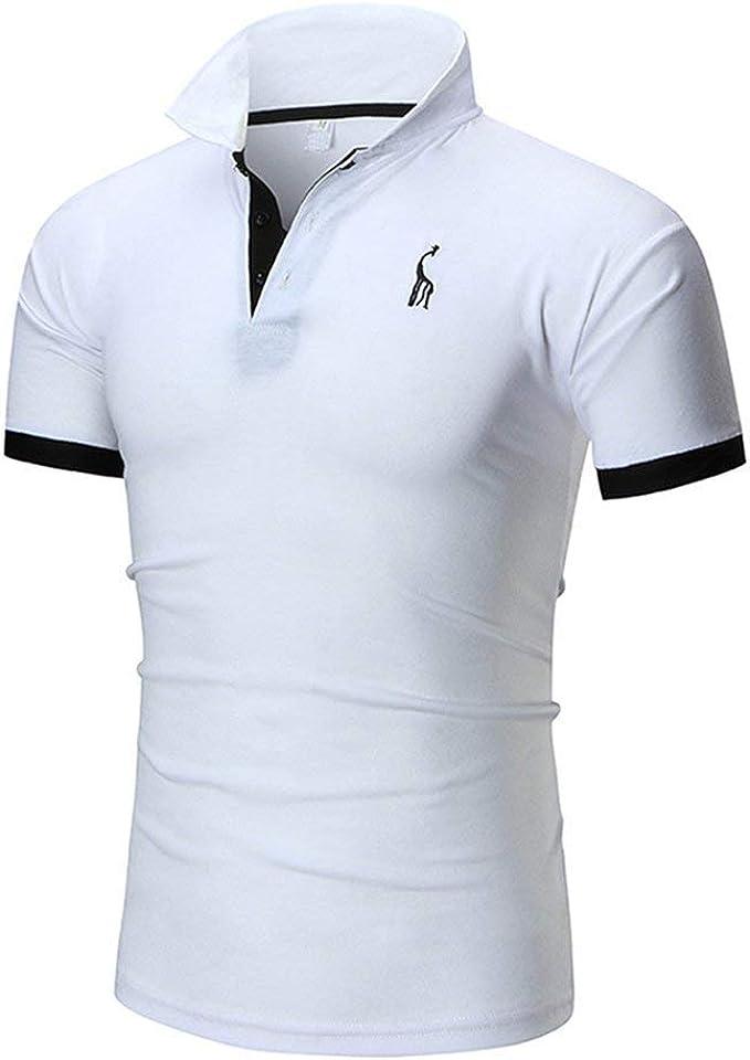Anaisy Camisas De Polo Hombres Cuello Jirafa Bordado De Algodón ...