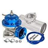 "Type RS BOV Blow Off Valve+ 2.5"" Aluminum Polish Adapter Flange Turbo Engine Custom (Blue)"