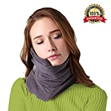 B-Comb Travel Pillow -Travel Neck Pillow Scarf Portable Soft Neck Support Perfect Pillow for Any Sitting Position Airplane Sleep Pillow - Plane Travel Accessory - Memory Foam- Adjustable