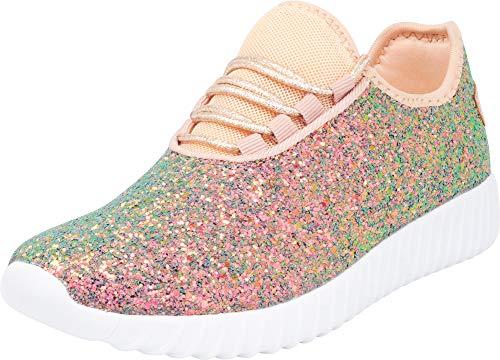 Encrusted Cambridge Lace Select Blue Toe Sport Casual Glitter Sneaker Women's Closed up Fashion UXwUa