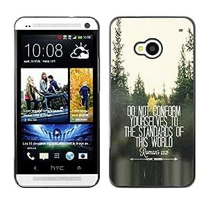 FlareStar Colour Printing Do Not Conform Inspiring Free Quote cáscara Funda Case Caso de plástico para HTC One M7