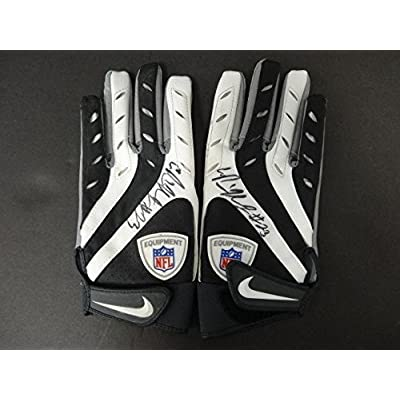 ce83f4db0ea Pierre Thomas Signed Game Used Official NFL Nike Gloves Auto AB70083 84 -  PSA