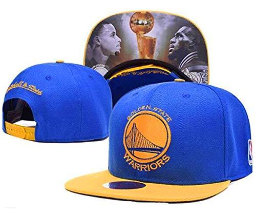 - Unisex Adjustable Fashion Leisure Baseball Hat,Golden State Warriors Cap (Blue Print)