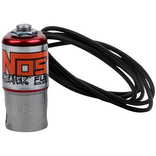 NOS/Nitrous Oxide System 18055NOS Cheater Fuel Solenoid 400 HP Max 2.7 Amp Draw 1/8 in. NPT Inlet 1/8 in. NPT Outlet Small Coil Cheater Fuel (Cheater Nitrous Solenoid)